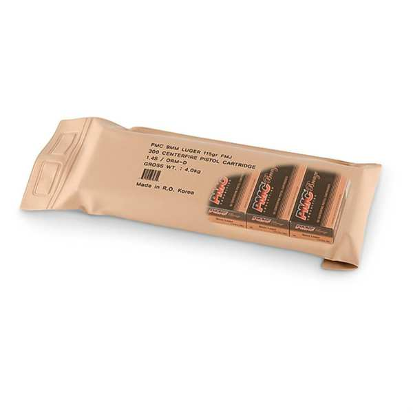 9mm Luger   PMC Bronze - FMJ - 115 Grain - Battle Pack of 300 Rounds