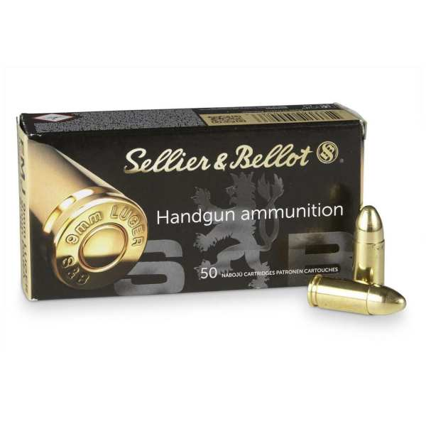 9mm Luger | Sellier & Bellot - FMJ - 115 Grains - 50 Rounds