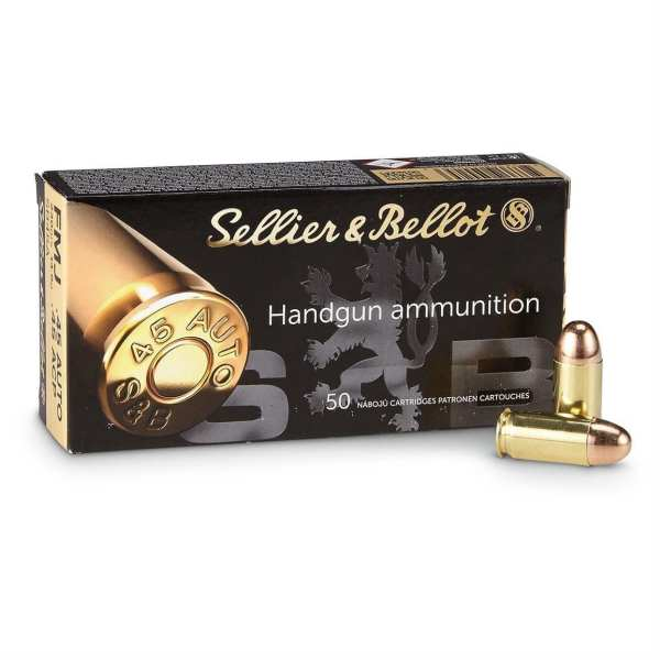 .45 ACP - Sellier & Bellot - FMJ - 230 Grains - 50 Rounds