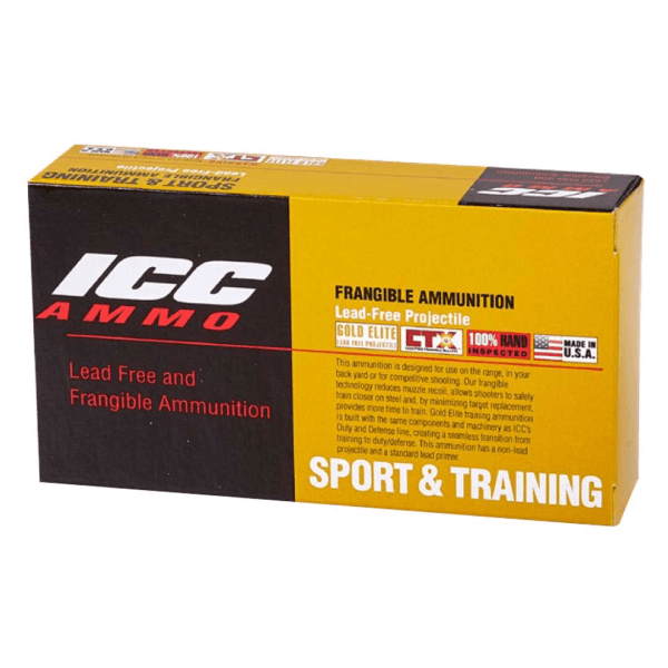 ICC45 155 Grain Lead Free Frangible Hollow Point (Defense & Target) 50 Rounds