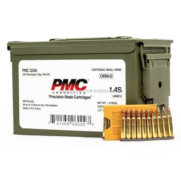 PMC 223 Rem. 55 Grain Full Metal Jacket CAN 840 Rounds