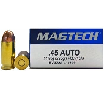 .45 ACP Ammo by Magtech - 230gr FMJ - 1000 rd case