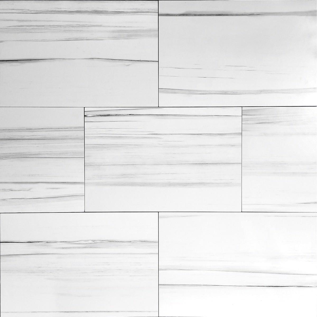 12x24 white matt polisandro floor wall porcelain tile