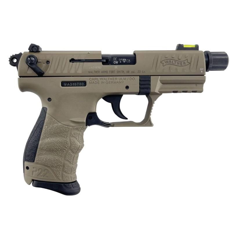 Walther P22 Q Tactical FDE .22LR