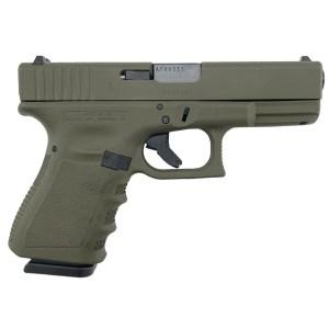 Glock 19 Gen 3 9MM Pistol - OD Green