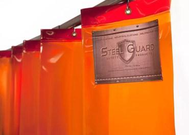 Accordion Fold Curtain - Orange Close Up
