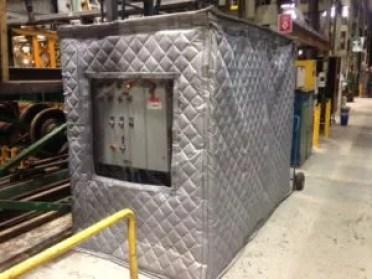 Sound Enclosure in Rail Way Yard Enclosing Noise Emitting Machinery