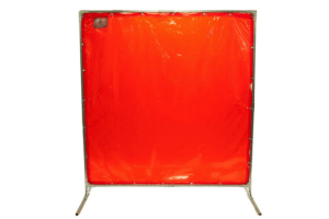 Welders utilized welding screens to protect welders and those in the facility, as well as control temperatures and reduce noise.