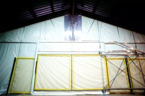 Install industrial curtain walls