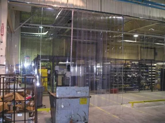Installing anti-static curtains to avoid damage and physical harm from static discharges