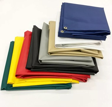 Heavy Duty Vinyl Tarps in Variety of Colors in 18 oz , 14 oz , & More in Laminated & Coated Versions