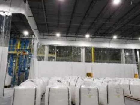 Warehouse Curtains Divide Bulk Product Storage Stopping Dust & Contamination