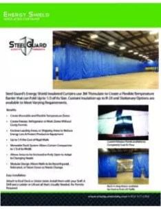 Insulated Curtain Wall Sell Sheet with Benefits & Features