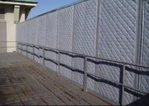 Outdoor Sound Barrier Along Loading Dock Area