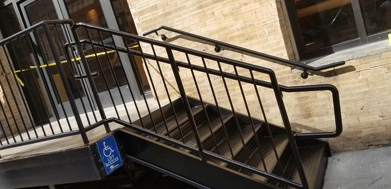 Fabricator Ny Pipe Tubular Steel Hand Railing Stair Railings | Industrial Pipe Stair Railing | Threaded Pipe | Rail | Banister | Galvanized Pipe | Wall