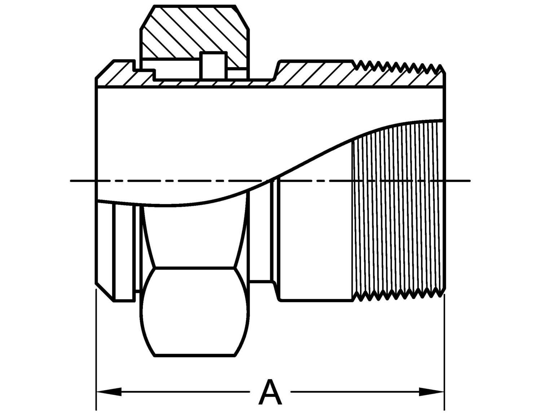 14 19 Adapter Plain X Male Npt