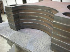 half inch x plates before machining and blasting