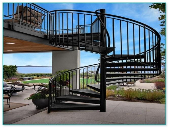 Spiral Staircase Outdoor Deck | Outdoor Spiral Staircase Near Me | Staircase Ideas | Staircase Kits | Balcony Railing | Oak70 Xtra | Wrought Iron