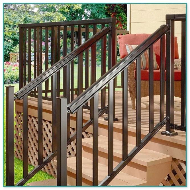 Staircase Railings Home Depot   Home Depot Stair Handrail   Aluminum Stair   Wood   Balusters   Porch Railings   Oak Stair