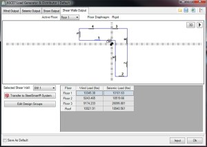 ASCE 7 Load Generator Shear Wall Output