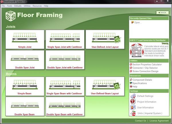 SSS Cold Formed Steel Floor Framing Design Module