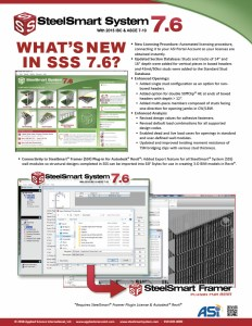 Whats New in SteelSmart System 7.6