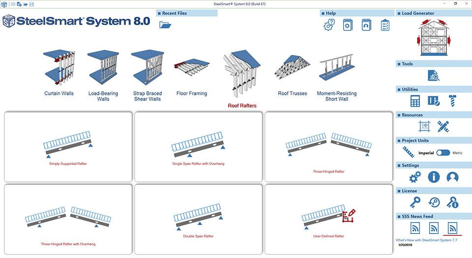 Cold-formed Steel Roof Rafter Design Software Module