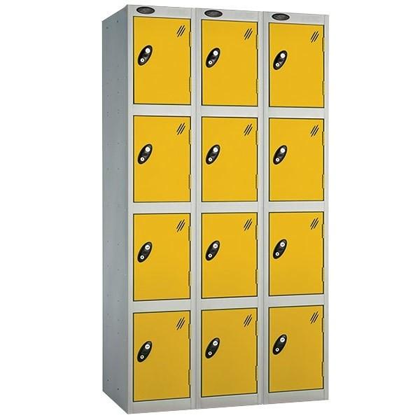 Probe steel locker nest of 3-4 door yellow