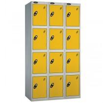 nest steel locker set 3-4 door yellow