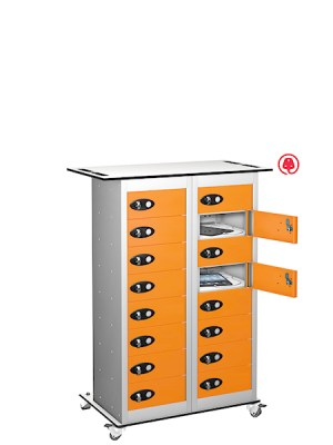 Probe steel 16 door charging trolley tab box orange