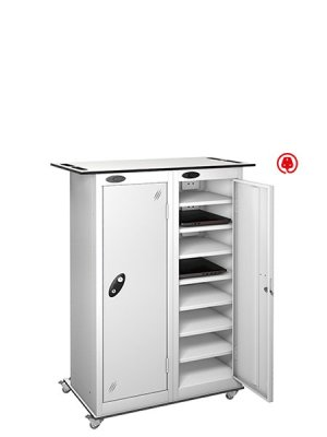 Probe 2 door steel white lapbox charging locker