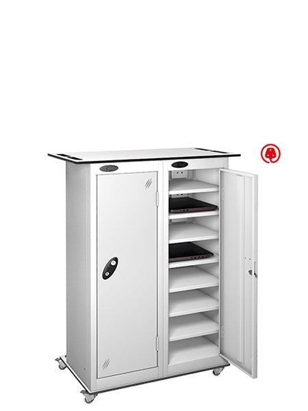 Probe 2 door steel white lapbox charging locker