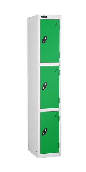 probe 3 doors steel locker green