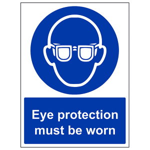eye protection signs | PPE eye protection sign | PPE safety glasses labels and signage
