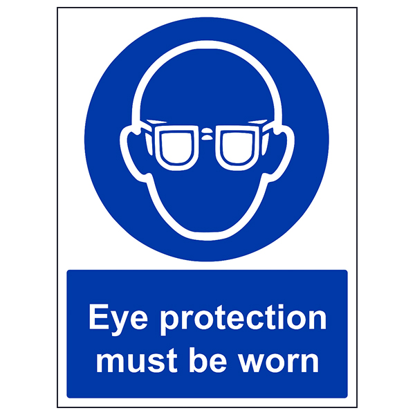 eye protection signs   PPE eye protection sign   PPE safety glasses labels and signage