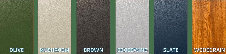Steel Garage Colours