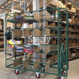2-step Folded Up Picking trolley