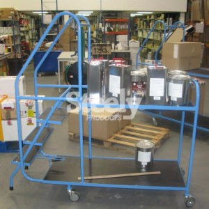 3 Step 2 shelf Picking Trolley