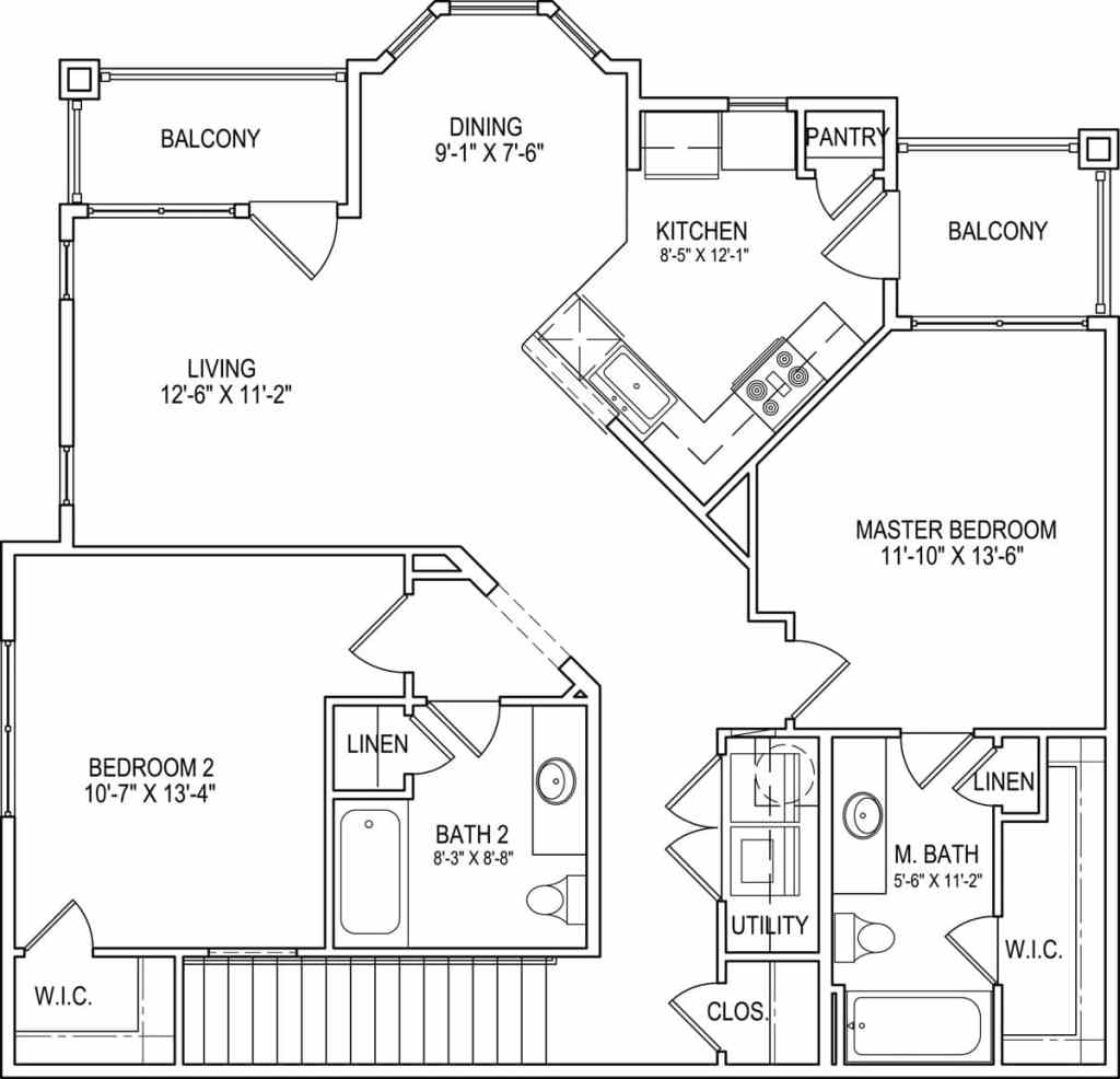 Floor Plans - Steeplechase at Malta Apartments