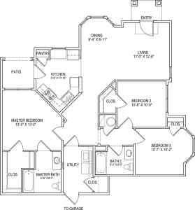 3 Bed / 2 Bath / 1,262 sq ft
