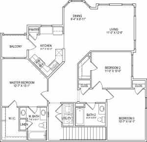 3 Bed / 2 Bath / 1,359 sq ft