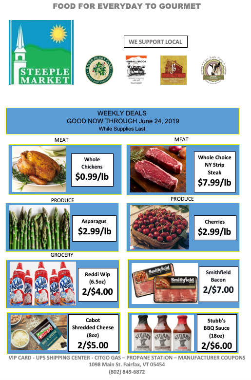 weekly deals from steeple market