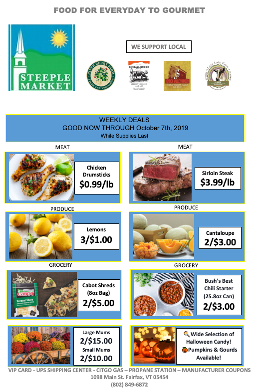 Steeple Market Weekly Deals
