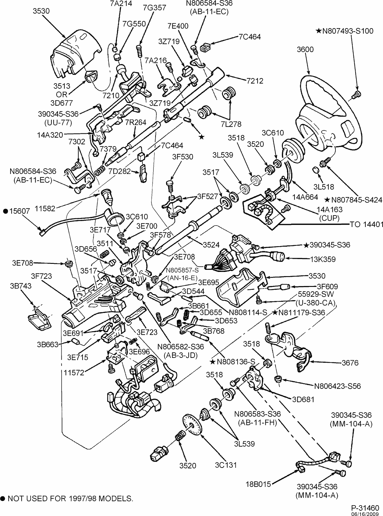Steeringcolumnservices 1997 ford f150 steering column diagram 1997 ford f 150 tilt column design