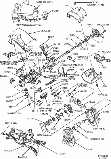 1999 ford taurus power steering diagram 2006 Ford Taurus