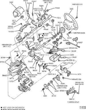 1990 Ford f250 steering column diagram