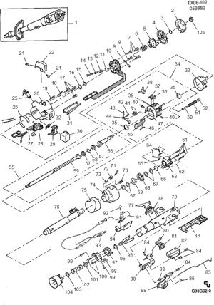 63 Chevy C10 Steering Column Diagram  Wiring Diagram Pictures