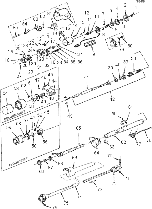 1957 chevy steering column wiring diagram wiring diagrams 1968 Chevy Truck Steering Column Diagram 84 chevy steering column wiring diagram