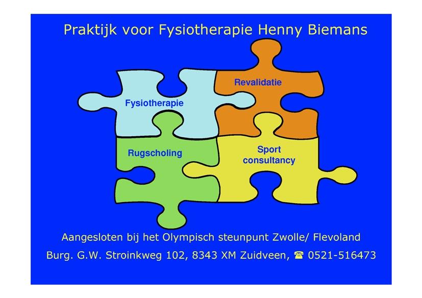 Fysiotherapie Henny Biemans