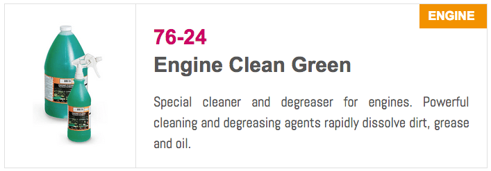 7624 Engine Clean Green